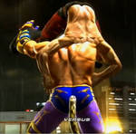 Tekken 6 - King grabs Lars [animated]