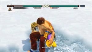 Tekken 6 - King grabs Hwoarang [animated]
