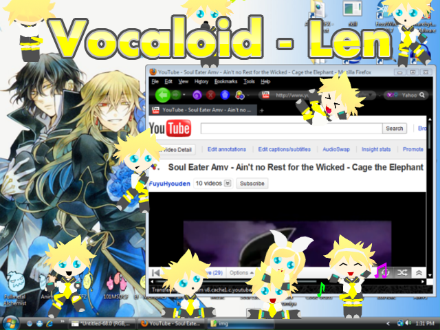Shimeji - Len, Vocaloid by Calculated-Lie