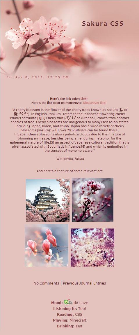 Installable Spring-Sakura Skin by MichelleRamey