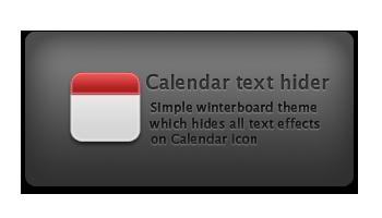 Calendar text hider by iMushDesing