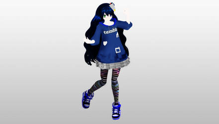 MMD Humanized Tumblr DOWNLOAD by AtrinaMoon