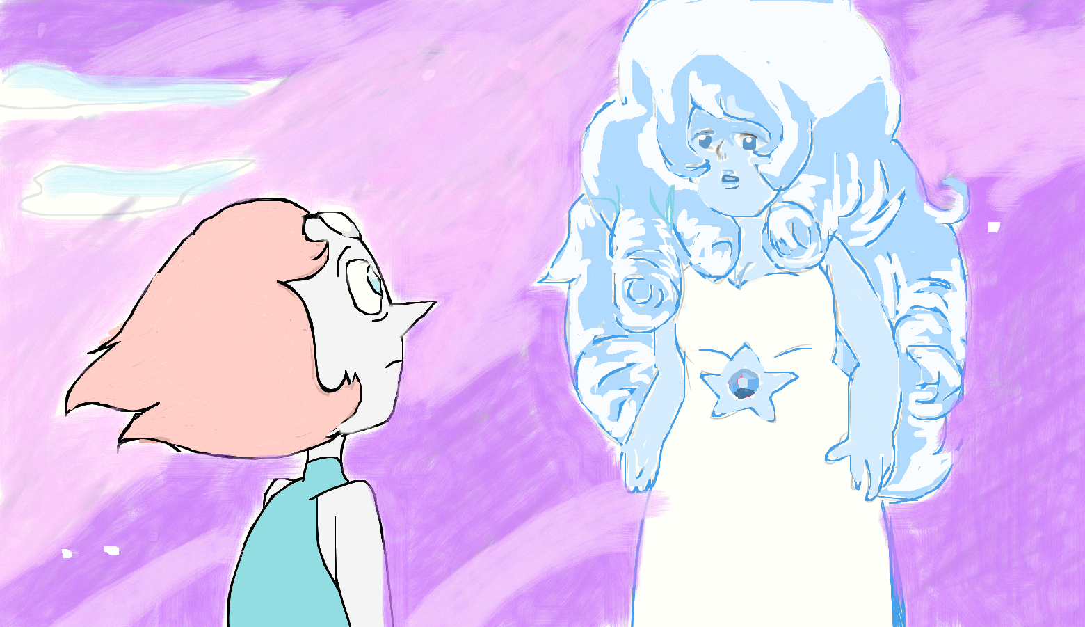 Steven Universe Pearl And Rose Quartz By Lullaby Wish On Deviantart