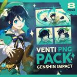 PNG PACK 18: VENTI (genshin impact)