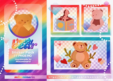 STICKER PACK 01: TEDDY BEAR