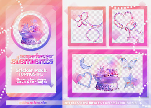 STICKER PACK 03: AESPA FOREVER ELEMENTS