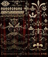 Decorative swirls borders by Lyotta