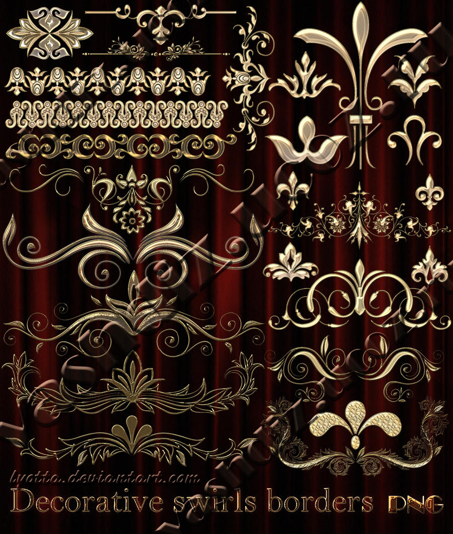 Decorative swirls borders by Lyotta
