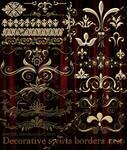 Decorative swirls borders