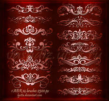 Vintage floral dividers and borders by Lyotta