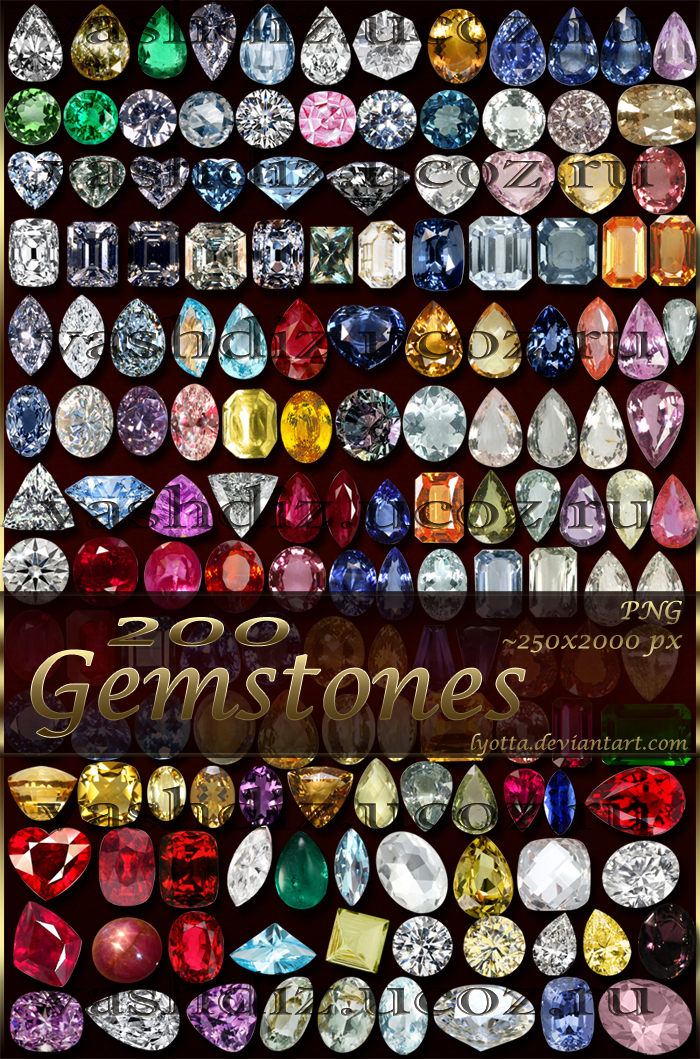 200 Gemstones By Lyotta On Deviantart