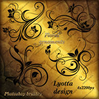photoshop brushes floral ornament