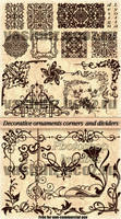 Decorative ornaments corners dividers