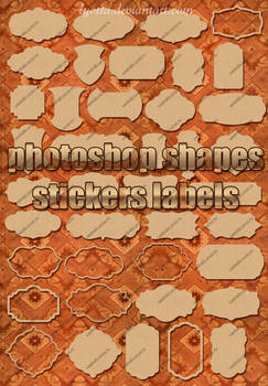 40 forms and shapes sticker labels Lyotta