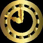 Clock gold vector