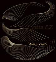 Curves line PNG. Black by Lyotta