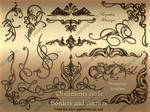 Ornaments curls photoshop brushes