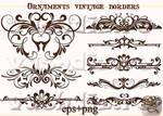 Ornaments vintage borders design LZ