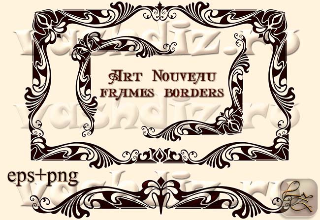 Art Nouveau frames borders LZ 6 by Lyotta on DeviantArt