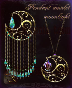 Pendant amulet moonlight Lyotta 2