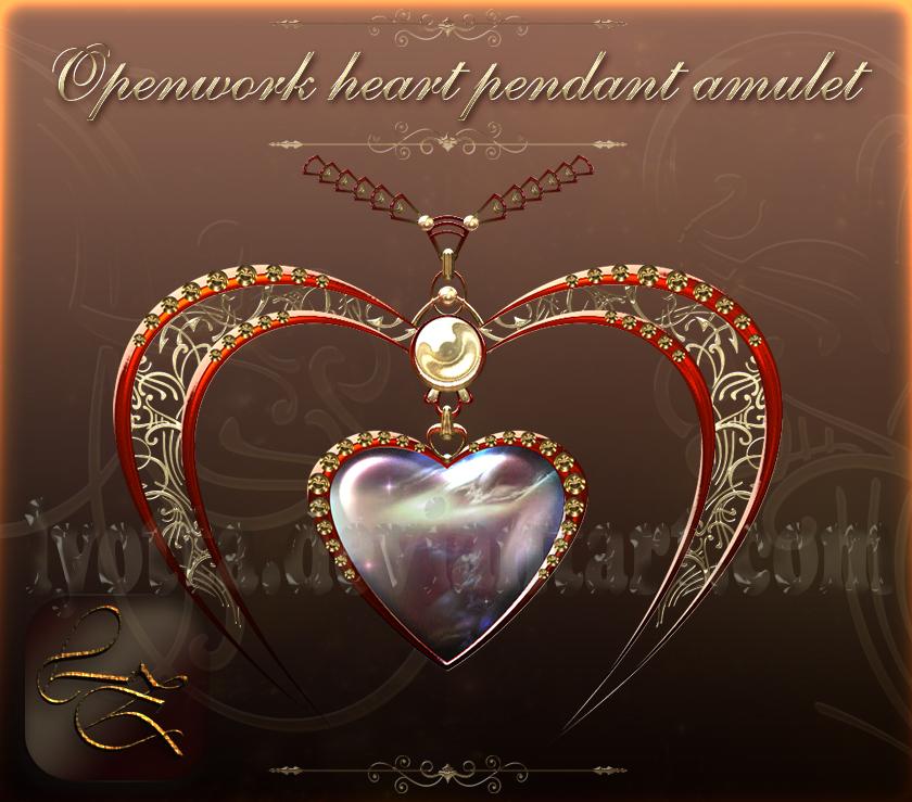 Openwork heart pendant Lyotta 7 by Lyotta