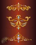 Vector onaments design elements color LZ 17