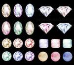Diamonds gemstones LZ 02