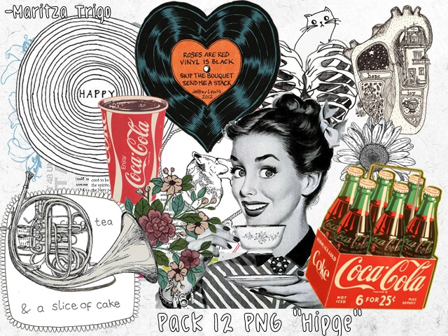 ''Hipge'' Pack 12 PNG by MaritzaTrigo