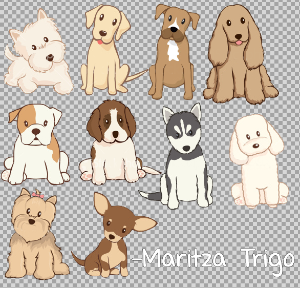 Pack 10 Perritos para tus dolls by MaritzaTrigo
