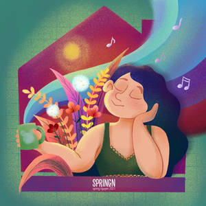 Stay at Home Illustration| Chilling at Home