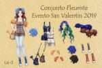 Conjunto Fleuriste - Evento San Valentin 2019