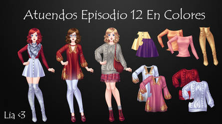 Atuendos Episodio 12 En Colores by LiaVongola