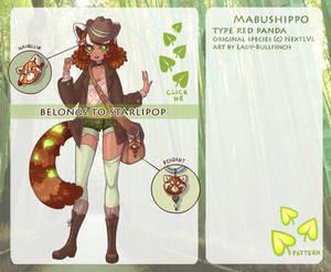 Mabushippo 05 - Red panda - (CUSTOM)