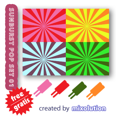 Sunburst Pop Set - Mixolution by Mixolution