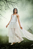 White Dress Cover-model In The Center by theheek