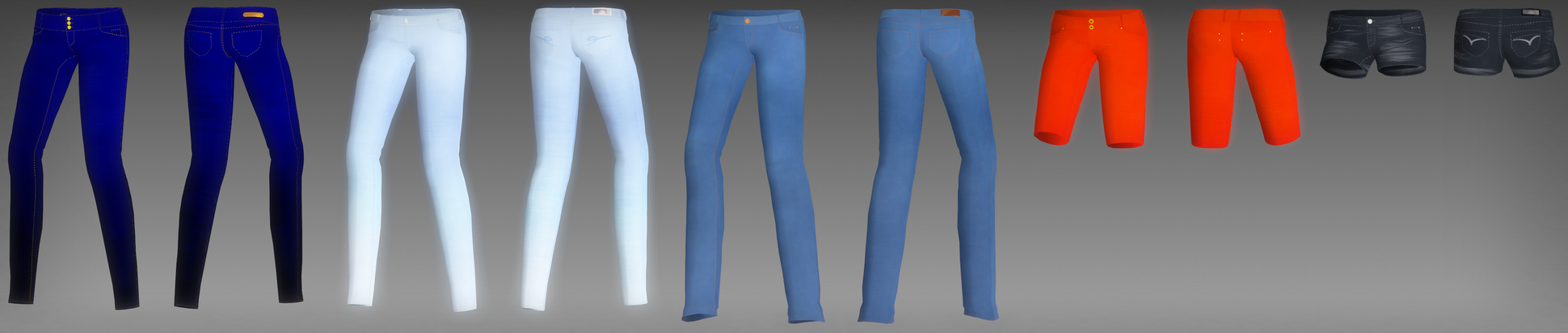 Female jeans pack DL by Rolneeq