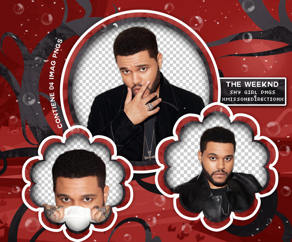 PACK PNG 203 // THE WEEKND by xMissOneDirectionx