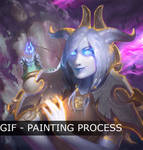 Draenei Priest - Painting process by Forest-Walker