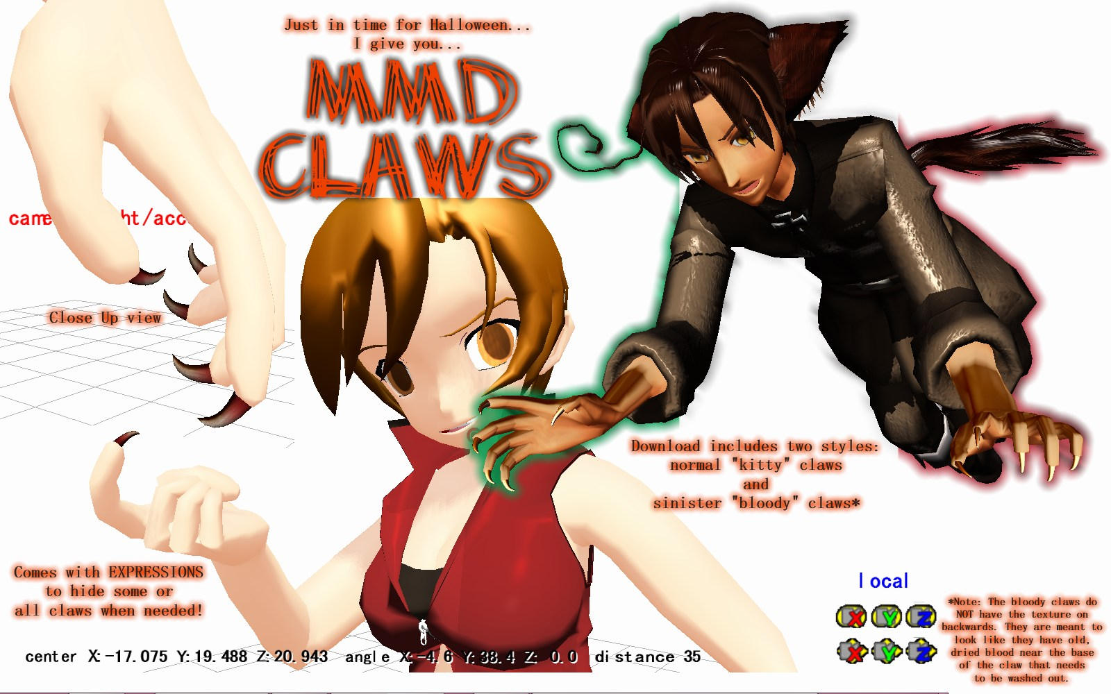 Mmd Download Claws By Amenrenet On Deviantart