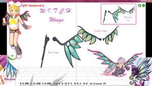 MMD W.I.T.C.H. wings