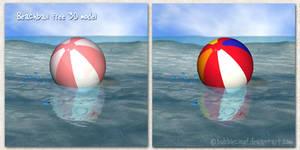 Beachball Free 3d model