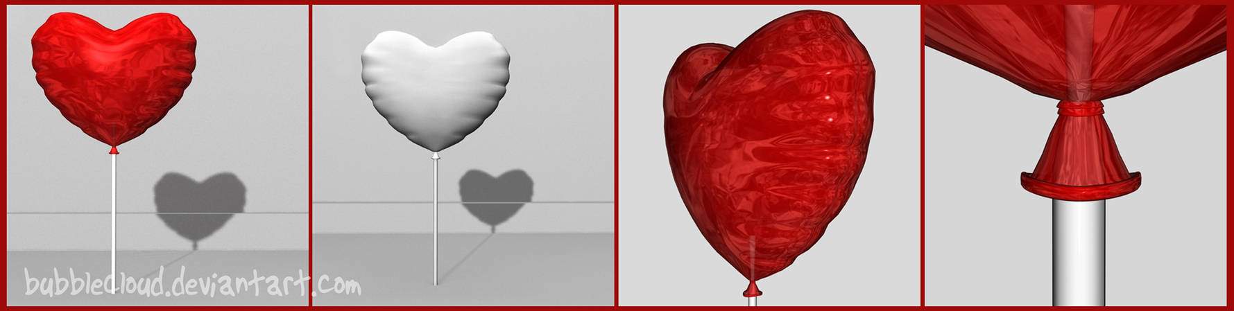 Heart Balloon Free 3D model