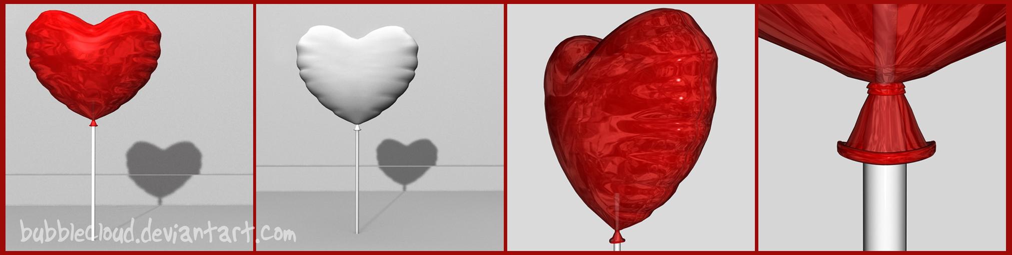 Heart Balloon Free 3D model by BubbleCloud