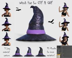 Witch Hat for G3F and G8F - Free 3D model