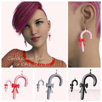 Candycane Earrings for DAZ Studio