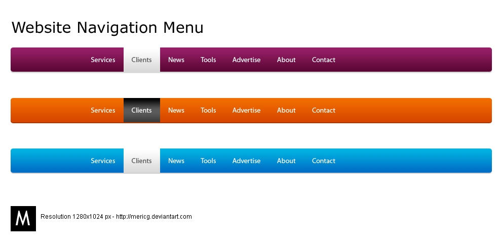 Website Navigation Menu by MericG