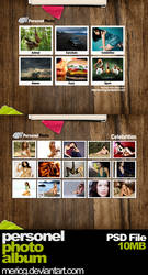 Personel Photo Album PSD