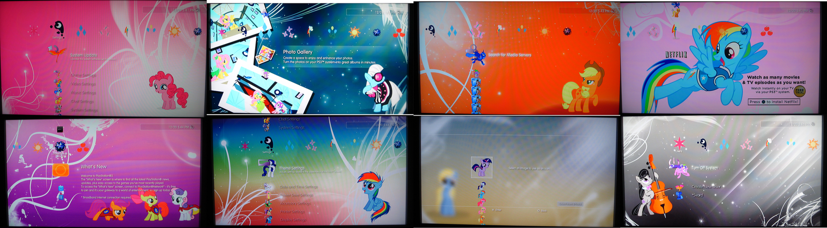 Friendship is Magic PS3 Themes by Unfiltered-N