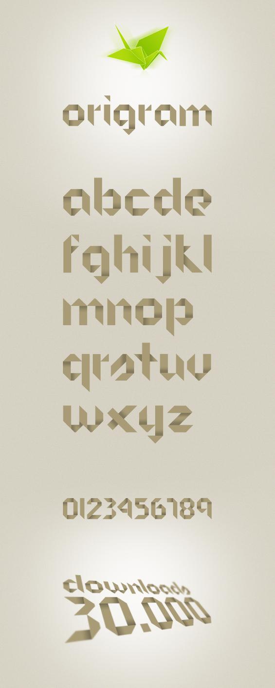 Origram Free Font by NunoDias