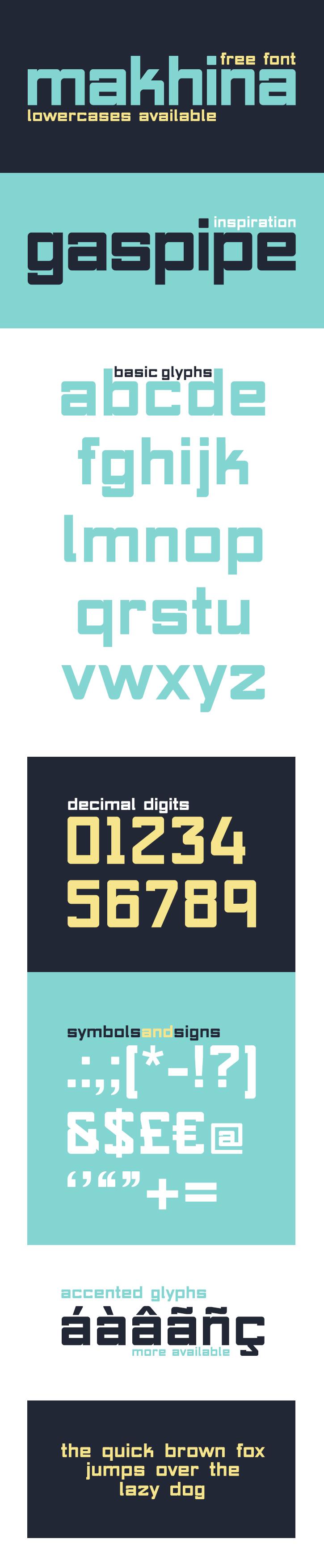 Makhina Free Font by NunoDias